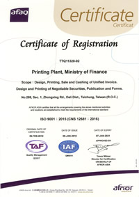 The certificate of ISO 9001 Quality management systems